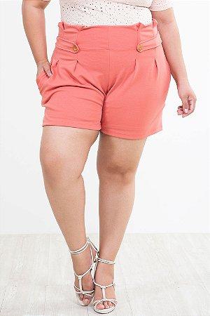 Shorts clochard em crepe plus size