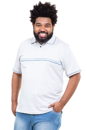 Camisa polo manga curta plus size
