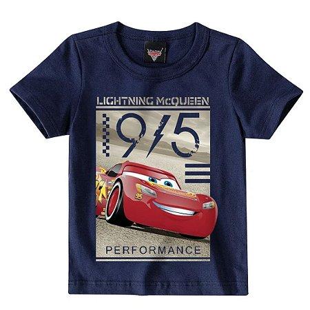 Camiseta infantil manga curta carros