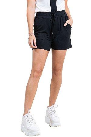 Shorts cós elástico com bolso