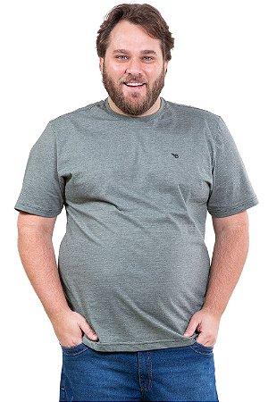 Camiseta manga curta reta plus size