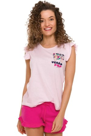 Pijama manga curta turma da mônica verão pop