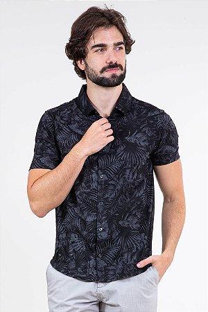 Camisa manga curta folhagem