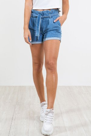 Shorts jeans clochard barra virada