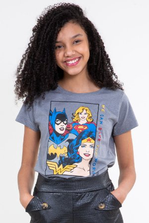 Camiseta manga curta justice league