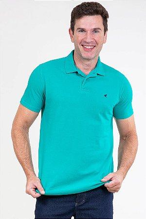 Camisa polo reta em piquet malwee