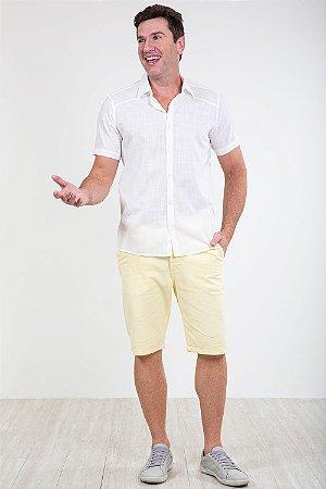Camisa manga curta reta