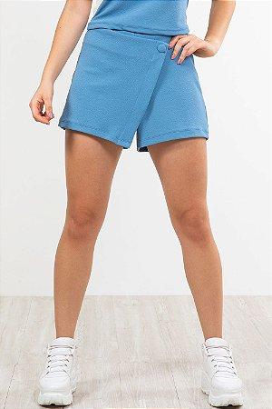 Shorts Saia com zíper