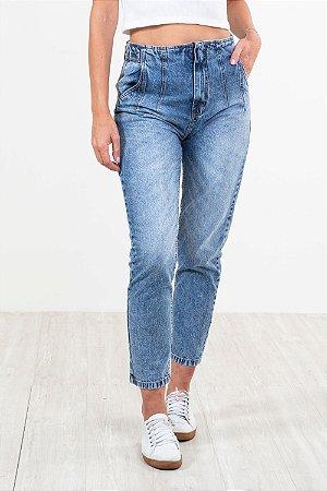 Calça jeans reta lisa
