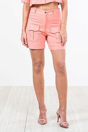 Shorts rayon liso c/bolso