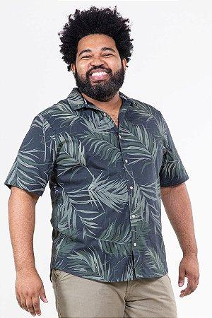 Camisa folhagem plus size