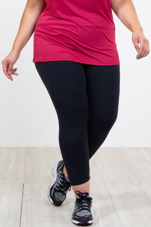 Calça legging com cós largo plus size