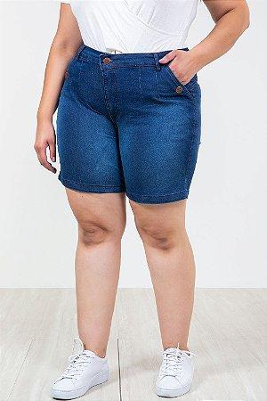 Shorts jeans reto plus size