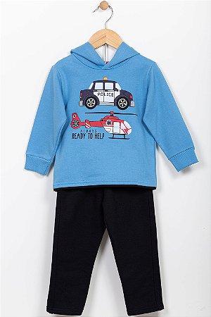 Conjunto moletom infantil blusão e calça Kyly