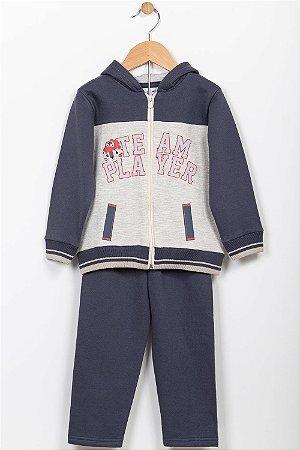 Conjunto moletom infantil jaqueta e calça