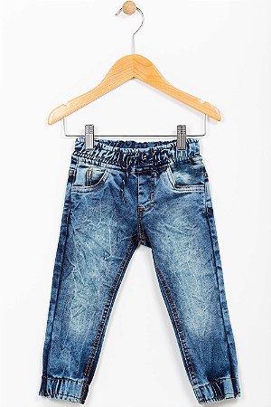 Calça jeans infantil com punho