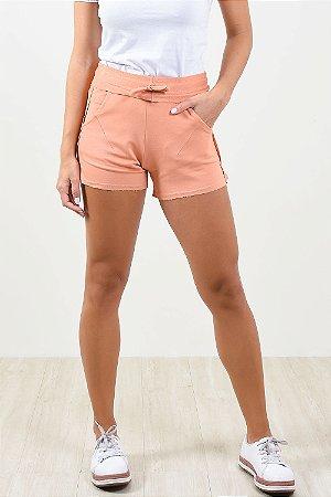 Shorts com bolsos em moletinho