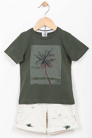 Conjunto infantil camiseta e bermuda Alakazoo