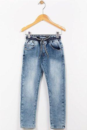 Calça jeans infantil cós com elástico