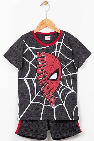 Pijama infantil camiseta e bermuda Spider Man
