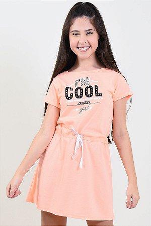 Vestido juvenil manga curta florenzza