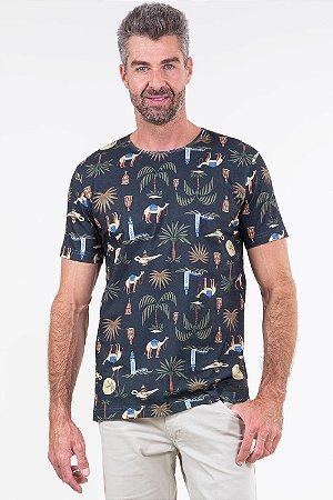 Camiseta manga curta estampada