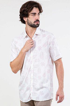 Camisa manga curta estampa folhagem