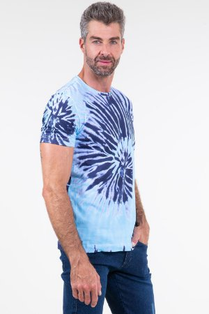 Camiseta manga curta tie dye