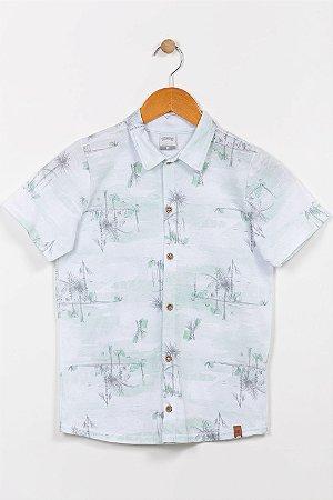 Camisa polo juvenil manga curta alakazoo