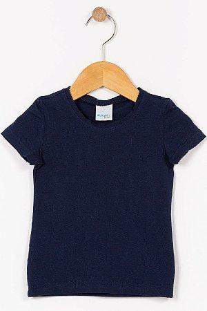Blusa infantil manga curta lisa malwee