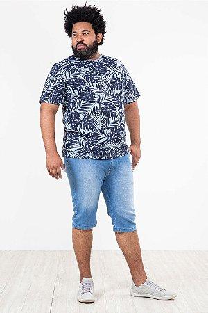 Camiseta manga curta estampada plus size