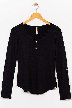 Blusa manga longa com botões lunender