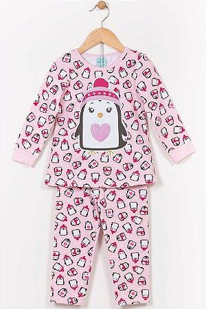 Pijama moletom infantil blusão e calça kyly
