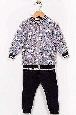 Conjunto moletom infantil jaqueta e calça alakazoo