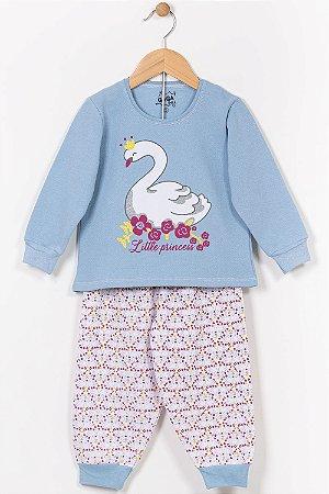 Pijama moletom infantil blusão e calça