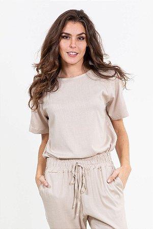 Blusa viscose manga curta