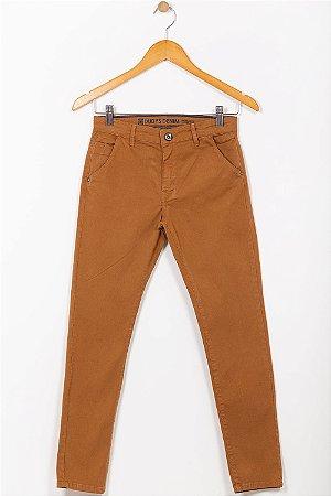 Calça sarja juvenil com bolso