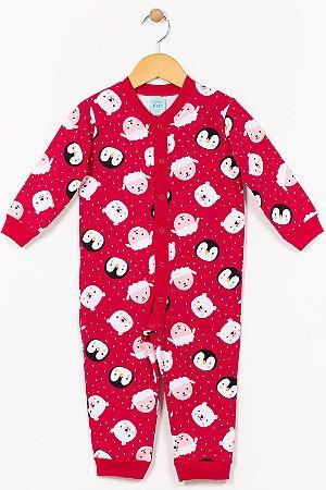 Pijama macacão infantil estampado kyly