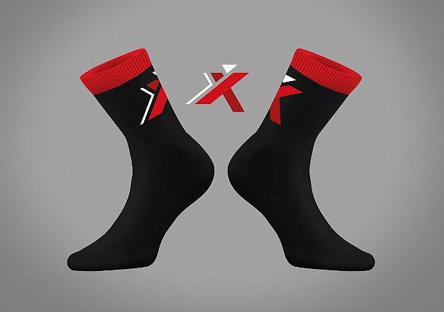 Meia GPX - Preta e vermelha