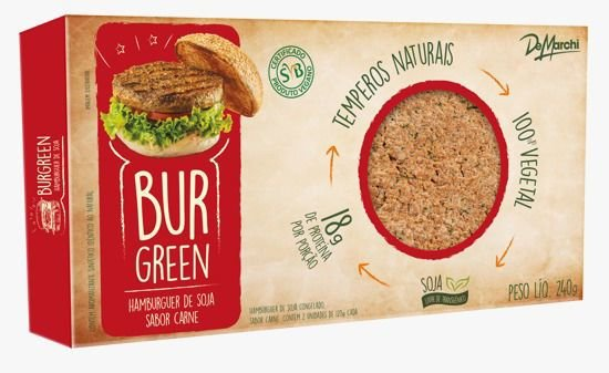HAMBÚRGUER DE SOJA BurGreen 100% Vegetal! PCT 2x120g