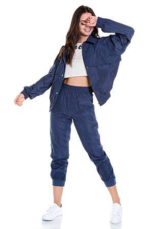 Jaqueta Tecido Peletizado Com Elástico