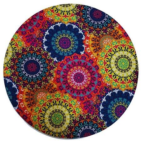 Kit 4 Capas para Sousplat Mandala Circle Charlô 35cmx35cm