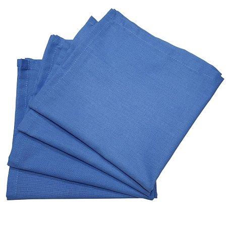 Kit 4 Guardanapos de Tecido Algodão Azul Celeste 39cmx39cm