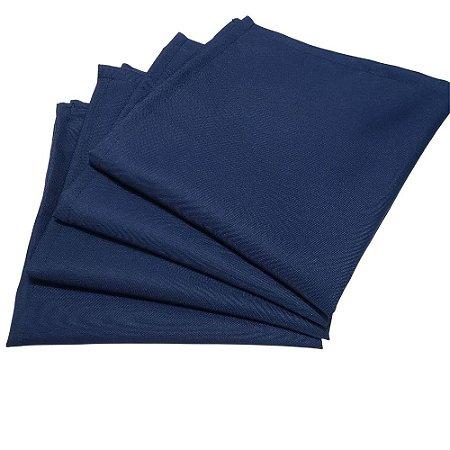 Kit 4 Guardanapos de Tecido Oxford Azul Marinho 40cmx40cm