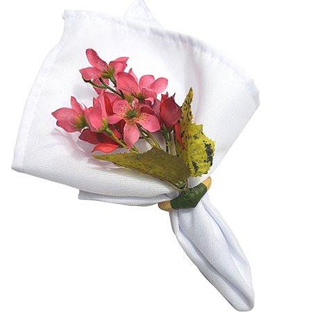 Box 16 Porta Guardanapo Ramo de Mini Orquídeas Amor Rosa da Charlô