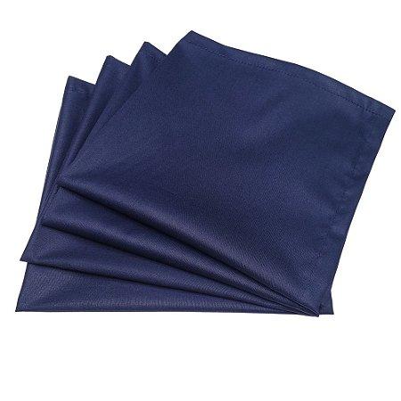 Kit 4 Guardanapos de Tecido Algodão Azul Marinho 39cmx39cm
