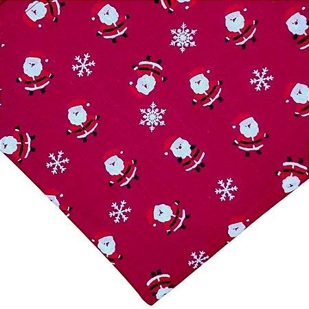 Kit 3 Guardanapos de Tecido Algodão Replica Papai Noel Vermelho 39cmx39cm
