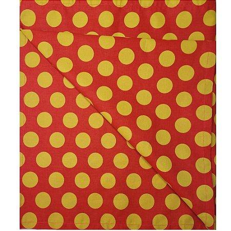 Trilho de Mesa Poá Grande Vermelho Dourado 45cmx1,60cm