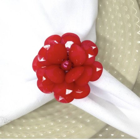 Porta Guardanapo Flor Delicada da Charlô (Vermelha) - 4 unidades