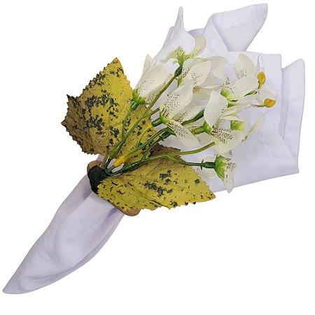 Porta Guardanapo Ramo de Mini Orquídeas Paz da Charlô - 4 unds